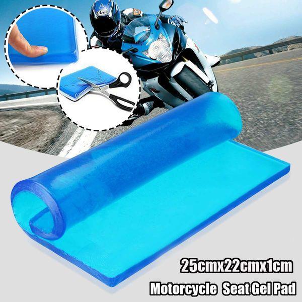 Nuovo DIY modificato 25x22x1cm spessore smorzamento silicone gel pad cuscino del sedile del motociclo comodi tappetini assorbimento degli urti