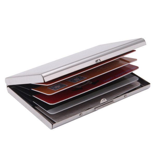 Edelstahl Kreditkarten Brieftasche Für Männer Und Frauen Sechs Karten Box Laser Card Caseredit Kartenhalter Id Business