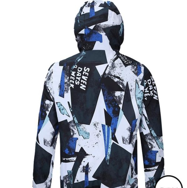 19ss Spring New Windbreaker Jackets Men 3D Printed Ultra Weight Thin Waterproof Hooded Jacket