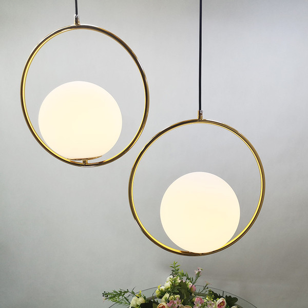 rod iron railing for interior and exterior decorations.htm 2019 led modern simple creative hanging lamp white glass ball  hanging lamp white glass ball