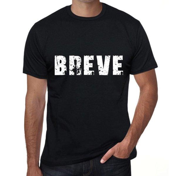 breve Hombre Camiseta Negro Regalo De Cumpleaños 00550 Hipster o-образным вырезом прохладный топы хип-хоп с коротким рукавом