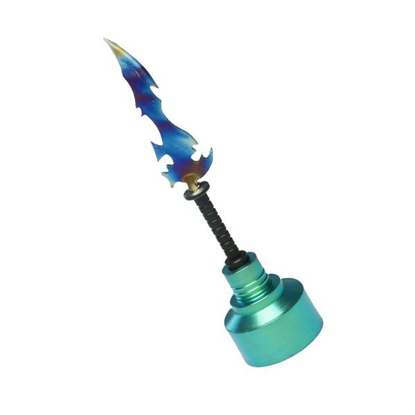 Titanium Nail Titanium Carb Cap Colorful Sword Type Titanium Dabber with Wax Dab Carving Tool