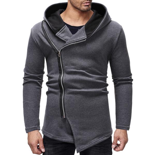 Hoodies Mens Grey Sudaderas Para Hombre Slim Fit Winter Men Hoodies Dropshipping Fashion Sweatshirts Mens Cheap Clothes China