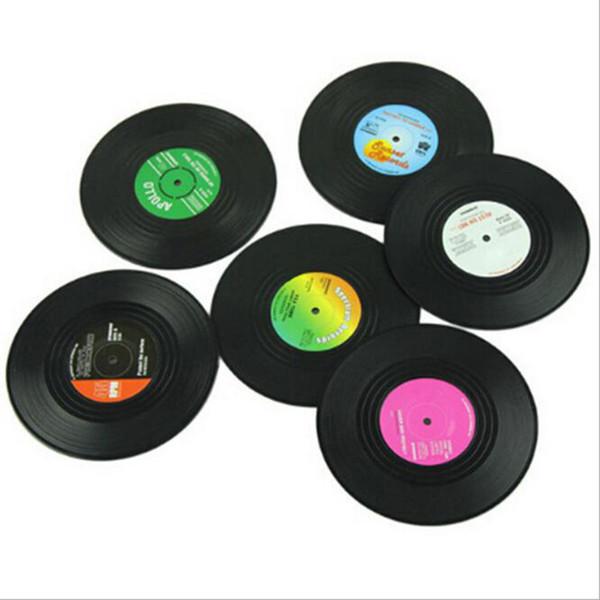 Home Table Stuoia della tazza Creative Decor Coffee Drink Placemat Stoviglie Spinning Retro Vinyl CD Record Drink Coasters D