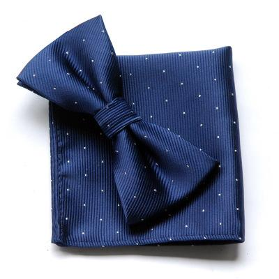 Quality small scarf tie combination suit wholesale pocket scarf monochrome tie men's tie