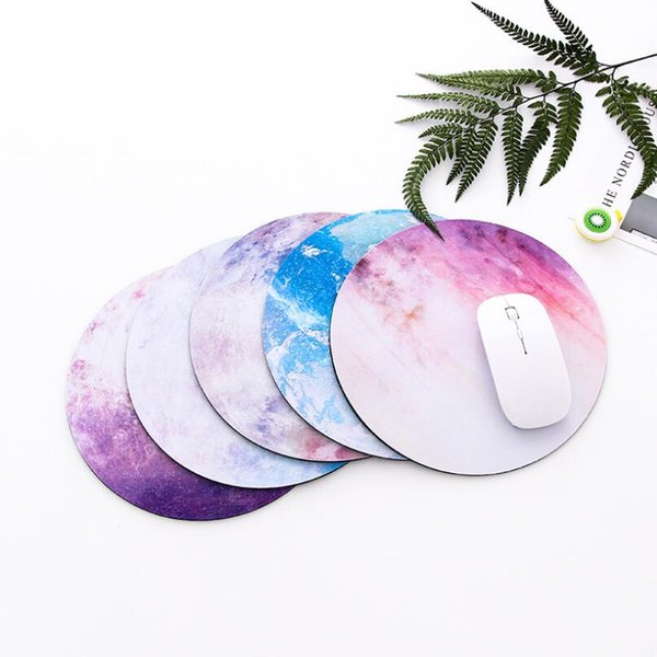 Creative Personality Planet Mouse Pad Soft Mat Small Fresh Round Laptop Mouse Pad Rubber Thickening Free Shipping
