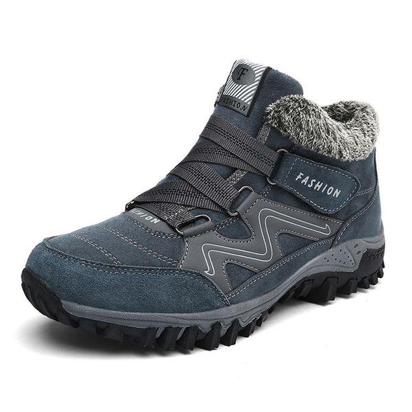 Men Boots Winter With Fur Warm Snow Boots Men Winter Boots Men Footwear Fashion Casual Unisex Rubber Ankle Shoes