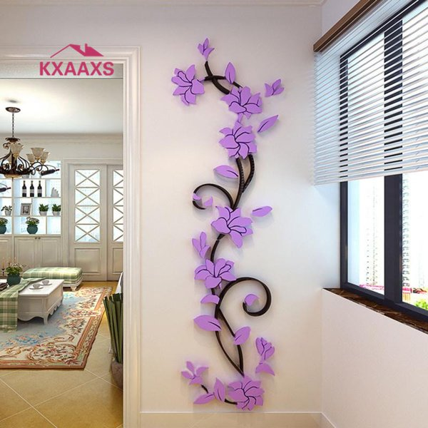 Vine Wall Stickers Home Decor Large Paper Flowers Living Room Bedroom Wall  Decor Sticker On The Wallpaper Diy Home Decals Political Bumper Stickers ...