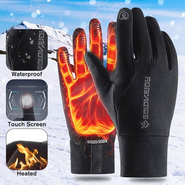 top popular 2020 Antiskid Men Winter Thermal Outdoor Sports Motorcycle Waterproof Windproof Touch Screen Gloves Cycling Skiing Racing 2021