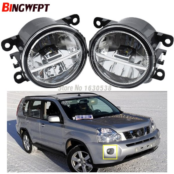 2x For NISSAN X-Trail T31 Closed Off-Road Vehicle 2007-2014 Car Styling Front Bumper LED Fog Lights High Brightness Fog Lamps