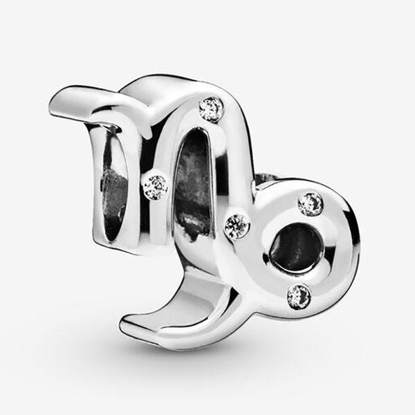 Convient Pandora Europe Sparkling Capricorne Zod Charm perle avec Cz Bijoux Bracelets Bracelet authentique Colliers Pendentifs Argent 925