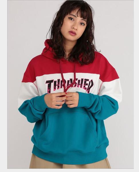 Marca con capucha para la Mujer Sudaderas con letras impresas de manga larga con capucha de las mujeres del verano hoodies Outwear la ropa M-2XL