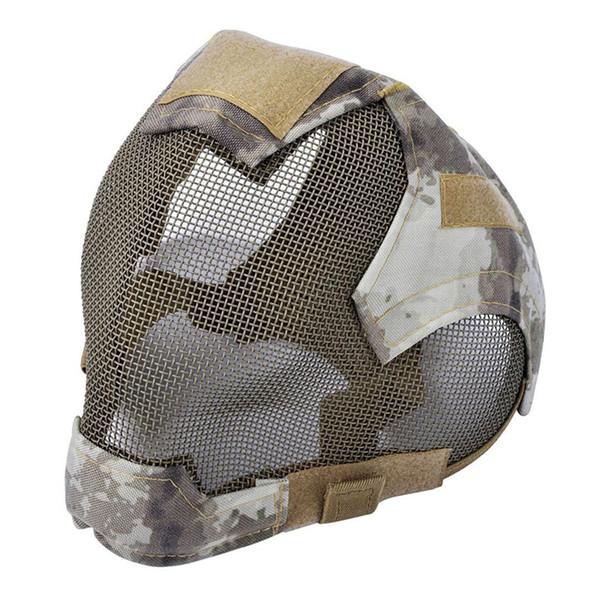 TOP! -Outdoor Mask protetora full-face esgrima máscara de malha de aço