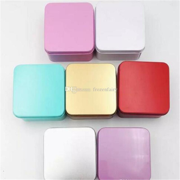 8.5*8.5*4.5cm High Quality Colorful Tea Caddy Tin Box Jewelry Storage Case Square Metal Mini Candy Box aa347-354 2017120212