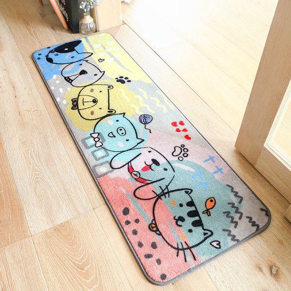 Carpets area rugs Cross-border cartoon carpet mats Home long bedroom bedside blankets Kitchen bathroom absorbent mats