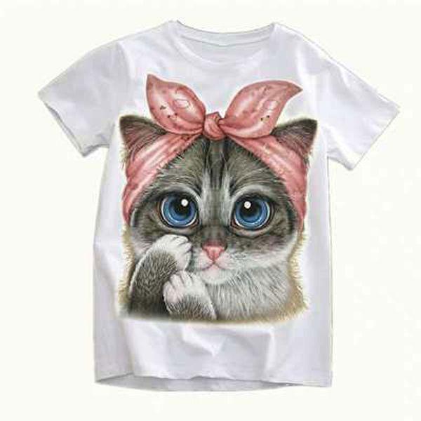 Baby Girls Boys Lovely Cats T-Shirt 2019 Kids Cartoon Clothes For Girls Boys Boy Tshirt Cute X Fashion T Shirts Girl Lovely Tops