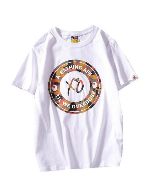 Compre Carta Dos Desenhos Animados Imprimir Ocasional Solto Curto Amante Do Verão Casual Colorido Dos Desenhos Animados Imprimir T Shirt Dos Homens