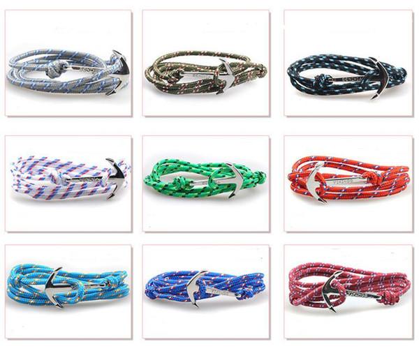 HOT Anchor Infinity Bracelet Pulsera de cuerda de múltiples capas para mujeres y hombres de alta calidad tom hope Paracord Pulseras de la amistad