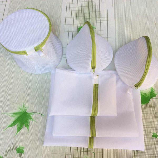 6 pcs / set pliable zippé panier à linge sac à linge pour machines à laver bonneterie épargnez protéger sacs de maille pour le lavage de sacs à linge pour le tissu