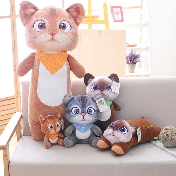 20cm-45cm Cute Cat Plush Toys Stuffed Animals Tomato Cat Plush Toys Birthday Gifts New Year Gifts Wedding for Kids Girls