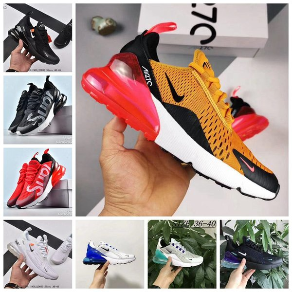 top popular 2018 270 Parra air hot Punch Photo Blue Mens Women Running Shoes Triple White University Olive Volt Habanero 27C Flair 270s Sneakers 36-45 2020