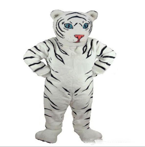 Halloween Deluxe Panthera tigris traje de la mascota de alta calidad de dibujos animados White Tiger Anime tema personaje carnaval de la navidad trajes de fiesta