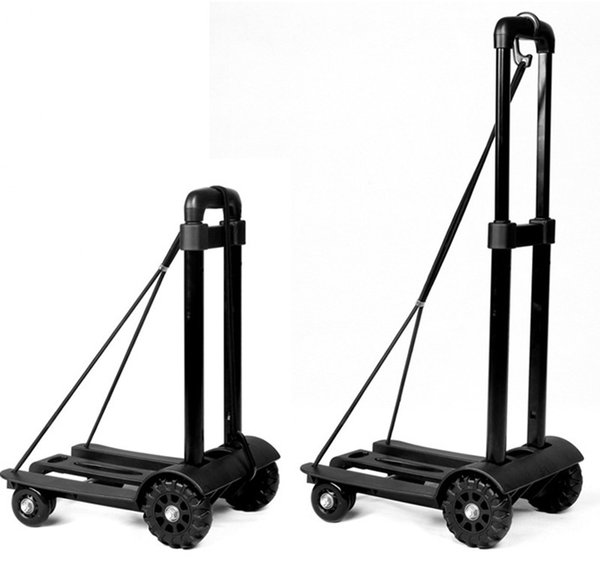 Cross-border new four-wheeled folding luggage truck Portable Shopping hand-pulled Bar truck load-bearing 75kg