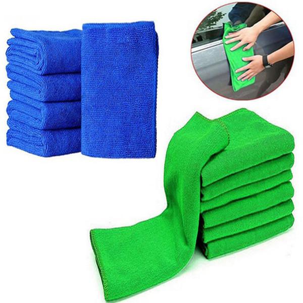capelli secchi asciugamano pulito quadrato blu verde 25x25cm asilo attività centro commerciale asciugamano giveaway
