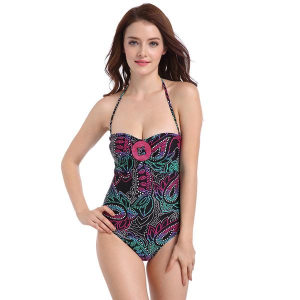 Sahil Tatil Spa Yüzme Suit Küçük Göğüs Toplanan Bikini Seksi Üçgen Tek parça Mayo Moda Roman Yüzmek Aşınma