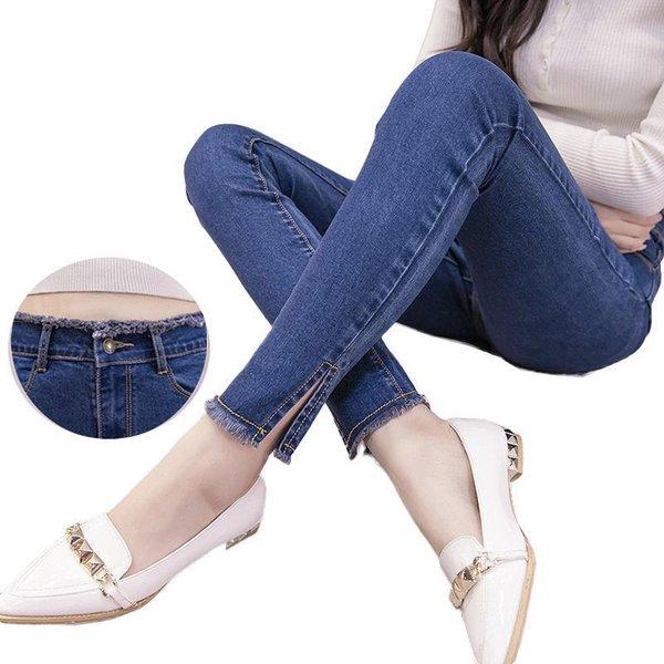 Nice Spring Autumn Women Jeans Ripped High Waist Stretch Skinny Slim Pencil Pants Female Denim Lady Trousers Pantalon Femme