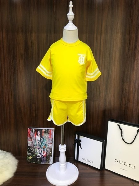 2019 New summer high quality comfortable breathable baby clothing set Girls' sports suits simple version design