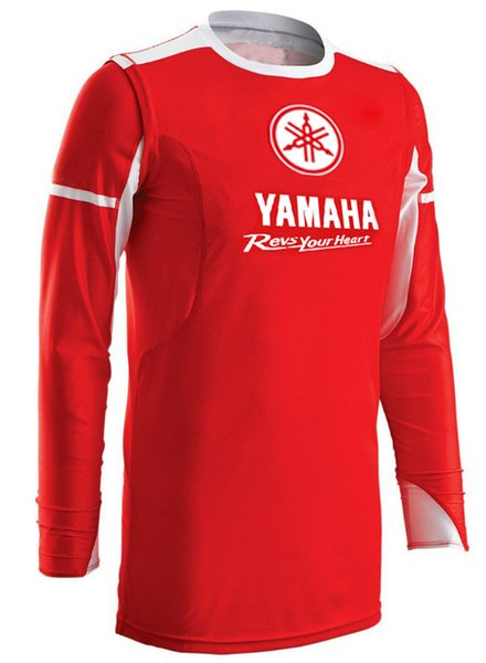 Moto Camisa de manga larga para Yamaha Racing Team Motocicleta Sport DH MX Jerseys Sudadera Ride in Red Ice Cold Feel C