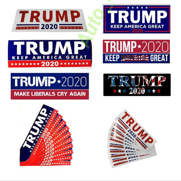 best selling best seller Donald Trump 2020 Car Stickers Bumper Sticker Keep Make America Great Decal for Car Styling Vehicle Paster