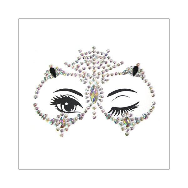 3D Owl Design Female Face Jewelry Gems Sticker Crystal Rhinestone Bling Festival Body Glitter Temporary Tattoo Body Art Makeup 2019 New Gift