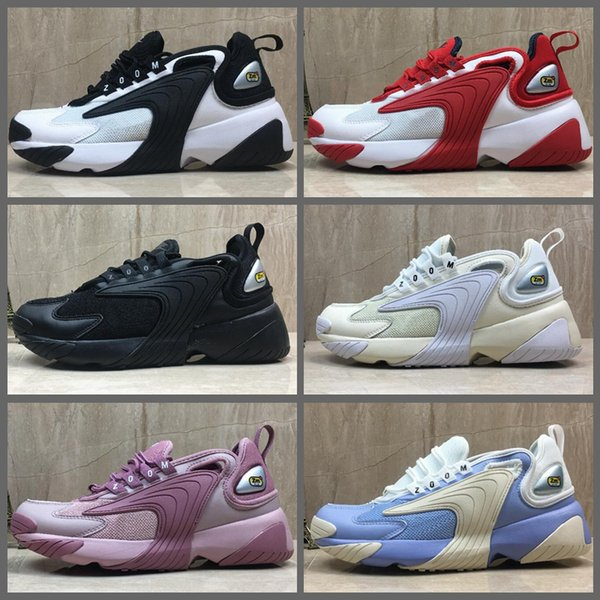 2019 New Zoom 2K Men Women Casuall Shoes 2000 Black White Pink Red Oreo Designer Sports Mens Trainer M2k Tekno Chaussures Size 36 45 Best Running