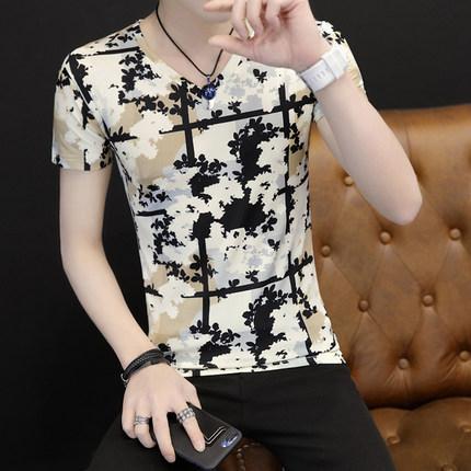 Мужская хлопковая футболка мода случайный открытый спортивный стиль 2019 модели взрыва Горячая распродажа стиль классический # 1726
