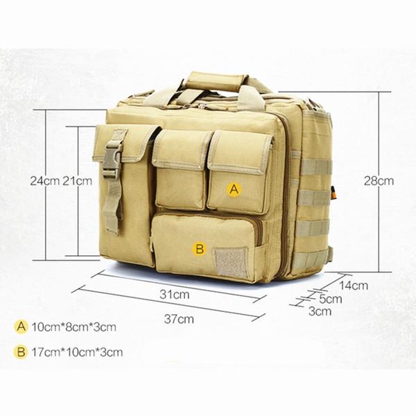 Venta al por mayor Militar Bolsa de escalada Escalada al aire libre Senderismo Ordenador Bolsa de hombro Tactical Messenger Bag Laptop Bolsos # 371043