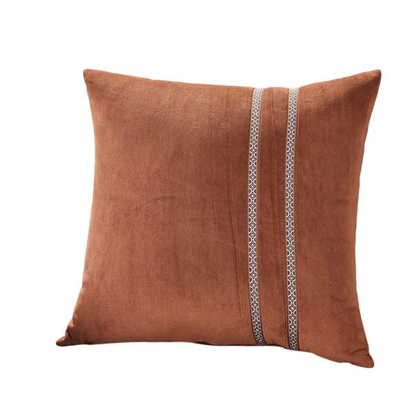 HSU Cushion Solid Plush Pillow Sofa Waist Throw Cushion Super Soft Comfortable Home Decoration galette de chaise coussin