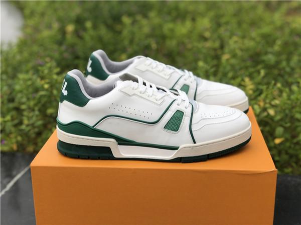 19 s EĞLENCELI SNEAKER 1A54HS Beyaz Buzağı Deri Sneakers Rahat Ayakkabılar BIANCO / B.R.B / BLU # 54 Ayakkabının Arkasında MS1118 5L0V5