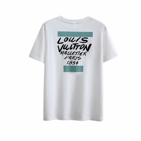 Chemise à la mode Été col rond Tops Casual StyleT chemises pour hommes femmes chemise à manches courtes Vêtements Lettre Motif Imprimé T-shirts * 38