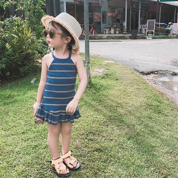 2019 New Girl Beach Dresses Dress For Little Girl Cheap Kids Little cloyhings Girl's Dresses high quality Baby Girls Dress free shipping