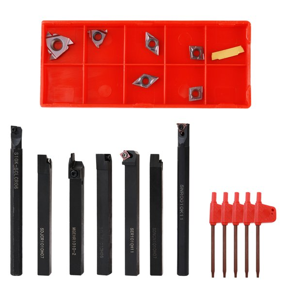 Multifunctional Solid Carbide Inserts Holder Boring Bar With Wrenches For Lathe Turning Tools