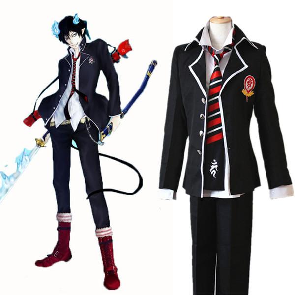 best selling Anime Ao no Exorcist Blue Exorcist Okumura Rin Okumura Yukio Cosplay Costume JP School Uniform Costume