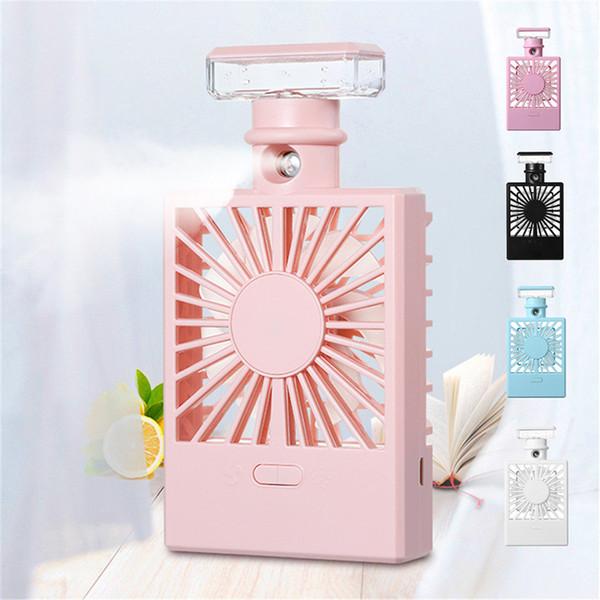 USB Charging Cooling Fan Perfume Bottle Humidifier Fan Spray Water Meter 2019 New Arrival fashion
