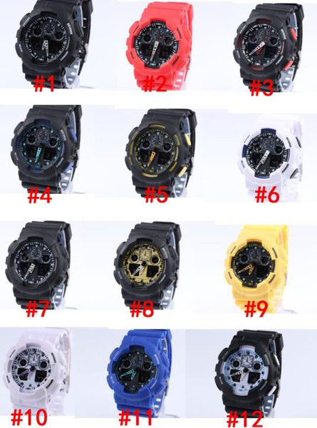 5pc lot relogio men 039 port watche led chronograph wri twatch military watch digital watch good gift for men boy drop hip