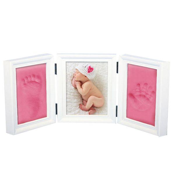 Bambino Photo Frame Diy Impronta Impronta Impronta cast set di immagini con il regalo della novità morbida argilla copertura per Kid J190716