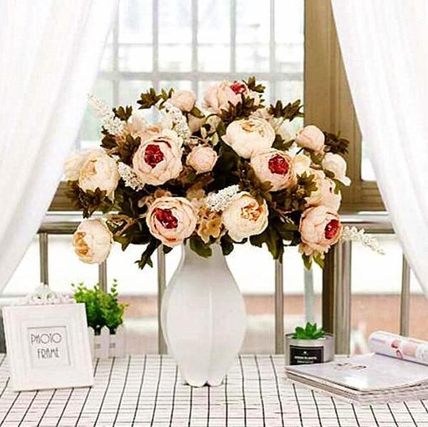 Artificial Peônia Flor Nupcial Buquê Família Decoração Do Partido Flores Decoração de Casamento de Alta Qualidade Suprimentos 18 Cores
