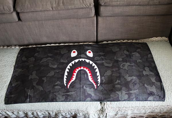 Requin bouche camouflage maison serviette yoga fitness serviette de bain microfibre absorber sueur absorber l'eau serviette