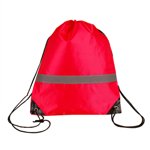 10 pcs camping walking gym pouch gift students storage large capacity drawstring bags school sport outdoor reflective strap