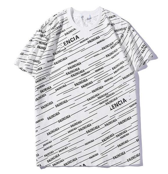 947f1ce6a Acheter Printemps Et Été Nouvelles Rayures Diagonales Imprimer Couleur  Coton Coton T Shirts Pour Hommes Et Femmes À Manches Courtes Sauvages ...